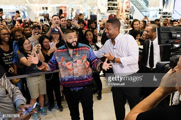 Calloway interviews DJ Khaled during his visit to 'Extra' at their New York studios at HM in Times Square on October 3 2016 in New York City