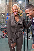 Calloway interviews NeNe Leakes during her visit to 'Extra' at their New York studios at HM in Times Square on April 27 2015 in New York City