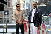 Calloway interviews Nick Cannon during his visit to 'Extra' at their New York studios at HM in Times Square on June 8 2016 in New York City