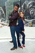 Calloway interviews Paula Abdul during her visit to 'Extra' at their New York studios at HM in Times Square on May 27 2015 in New York City