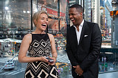 Calloway interviews Piper Perabo during her visit to 'Extra' at their New York studios at HM in Times Square on June 16 2014 in New York City