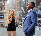 Calloway interviews Tori Kelly during her visit to 'Extra' at their New York studios at HM in Times Square on July 9 2015 in New York City
