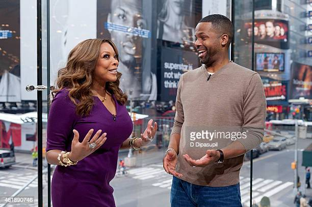 Calloway interviews Wendy Williams during her visit to 'Extra' at their New York studios at HM in Times Square on January 21 2015 in New York City