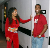 AJ Calloway With AXE Model during AXE Presents MOJO MASTER THE GAME in New York in New York City New York United States