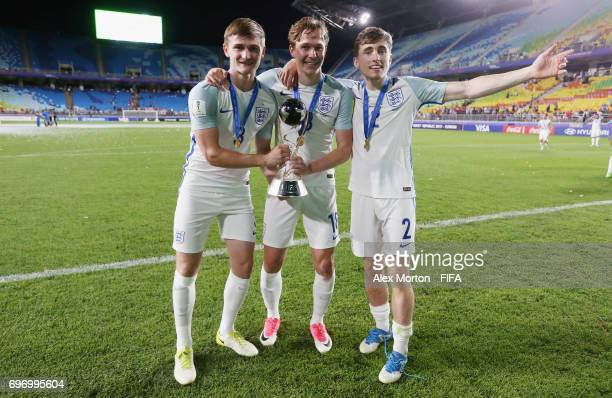 Callum Connolly Kieran Dowell and Jonjoe Kenny of England celebrate with the trophy after the FIFA U20 World Cup Korea Republic 2017 Final match...