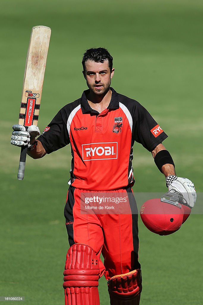 Callum Ferguson of the Redbacks leaves the field after getting out during the Ryobi One Cup Day match between the South Australian Redbacks and the Victorian Bushrangers at Adelaide Oval on February 9, 2013 in Adelaide, Australia.