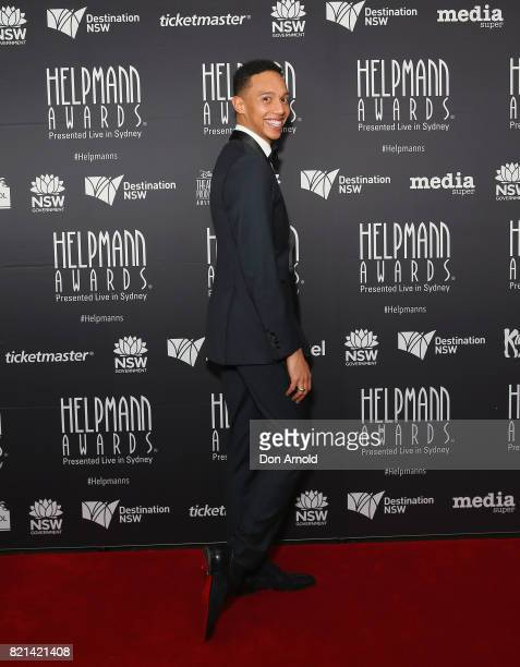 Callum Francis arrives ahead of the 17th Annual Helpmann Awards at Lyric Theatre Star City on July 24 2017 in Sydney Australia