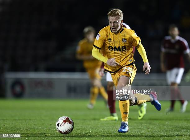 Callum Guy of Port Vale in action during the Sky Bet League One match between Northampton Town and Port Vale at Sixfields on March 14 2017 in...