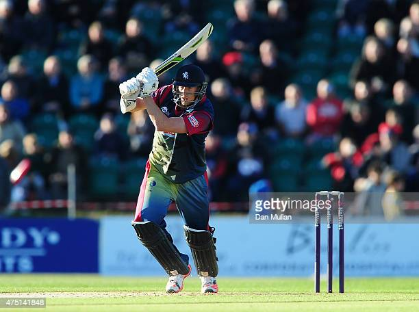 Callum Haggett of Kent Spitfires bats during the NatWest T20 Blast match between Kent and Surrey at The County Ground on May 29 2015 in Beckenham...