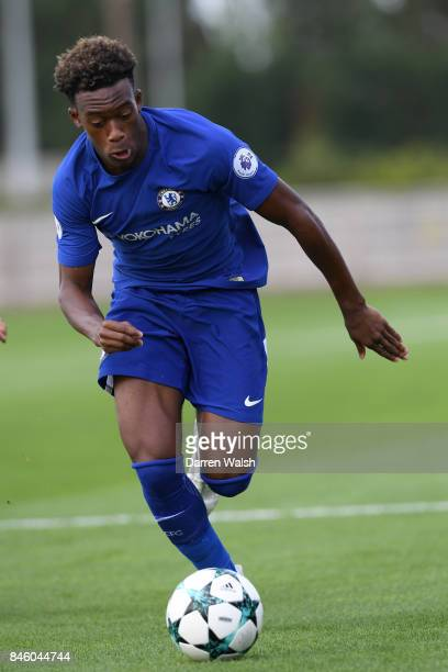 Callum Hudson Odoi of Chelsea U19's during the UEFA Youth Champions League group C match between Chelsea FC and Qarabag FK at Chelsea Training Ground...