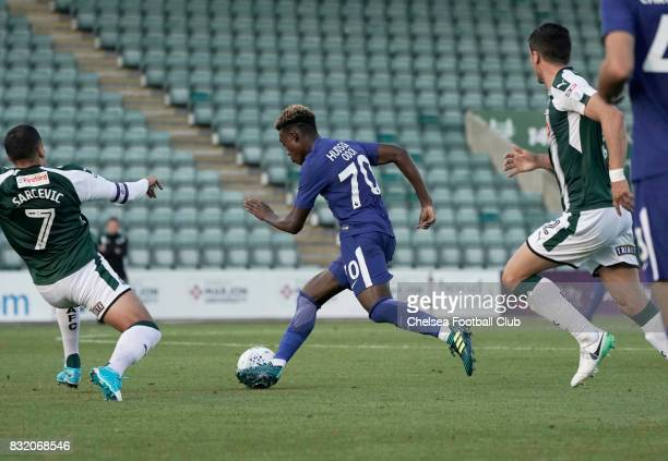 Callum HudsonOdoi of Chelsea during the Checkatrade Trophy match at Home Park on August 15 2017 in Plymouth England