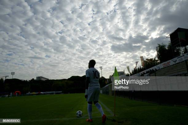 Callum HudsonOdoi of Chelsea during the UEFA Youth League match between AS Roma and Chelsea FC at Stadio Tre Fontane on October 31 2017 in Rome Italy