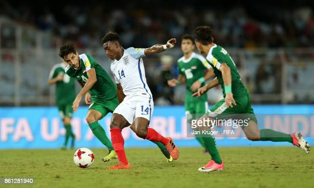 Callum HudsonOdoi of England controls the ball during the FIFA U17 World Cup India 2017 group F match between England and Iraq at Vivekananda Yuba...