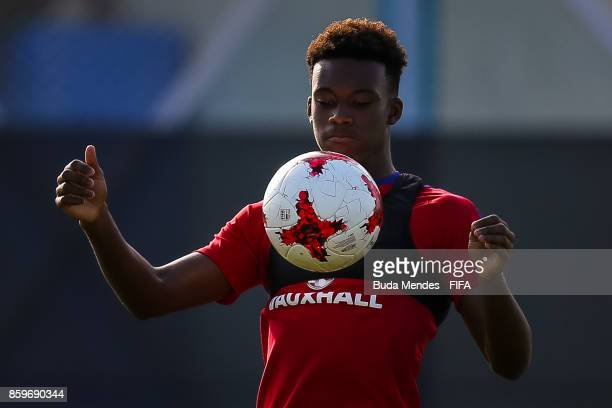 Callum HudsonOdoi of England in action during a training session ahead of the FIFA U17 World Cup India 2017 tournament at Kolkata 2 Training Centre...