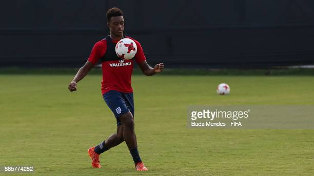 Callum HudsonOdoi of England in action during the training session ahead of the FIFA U17 World Cup India 2017 tournament at Kolkata 1 Training Centre...
