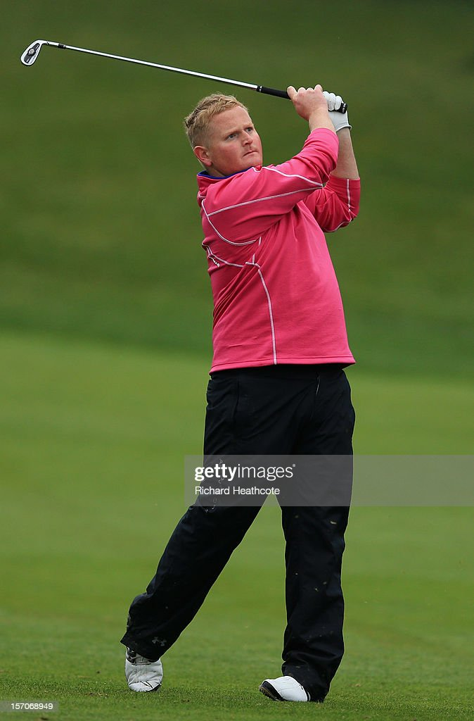 Callum Macaulay of Scotland in action during the fifth round of the European Tour Qualifying School Finals at PGA Catalunya Resort on November 28, 2012 in Girona, Spain.