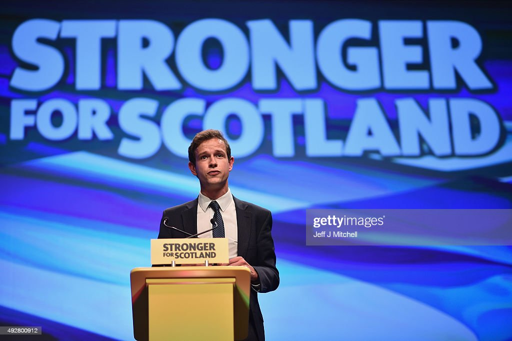MP Callum McCaig, addresses to the 81st annual conference at the Aberdeen Exhibition and Conference Centre on October 15, 2015 in Aberdeen,Scotland. SNP hold their first conference this week since the landslide victory in the May 2015 general election..