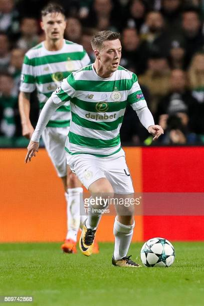 Callum McGregor of Celtic controls the ball during the UEFA Champions League group B match between Celtic FC and Bayern Muenchen at Celtic Park on...