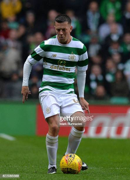 Callum McGregor of Celtic in action during the UEFA Champions League Qualifying Second Round Second Leg match between Celtic and Linfield at Celtic...
