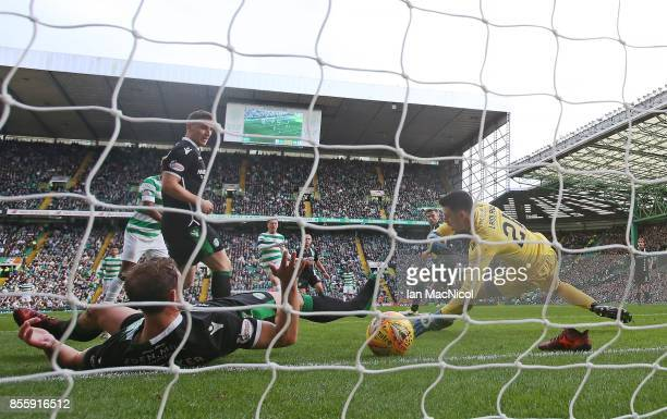 Callum McGregor of Celtic scores his second goal during the Ladbrokes Scottish Premiership match between Celtic and Hibernian at Celtic Park Stadium...