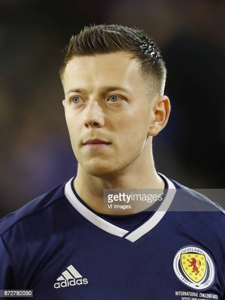 Callum McGregor of Scotland during the friendly match between Scotland and The Netherlands on November 09 2017 at Pittodrie Stadium in Aberdeen...
