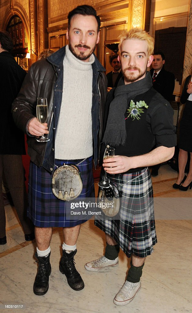 Callum O'Neil and Kevin Guthrie attend the 'Macbeth' after party at One Whitehall Place on February 22, 2013 in London, England.