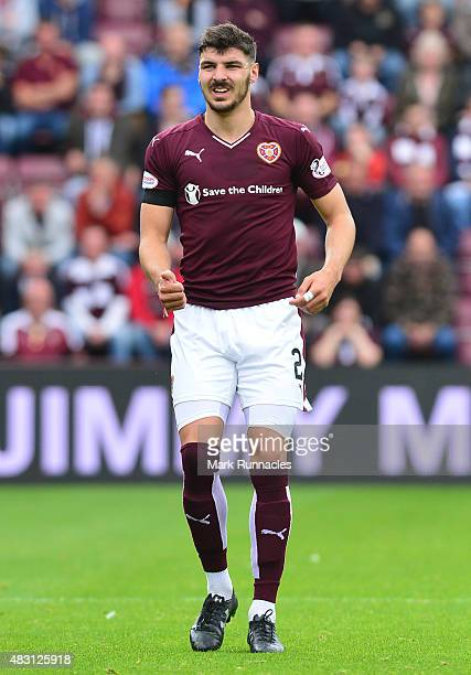 Callum Paterson of Hearts in action during the Ladbrokes Scottish Premiership match between Heart of Midlothian FC and St Johnstone FC at Tynecastle...