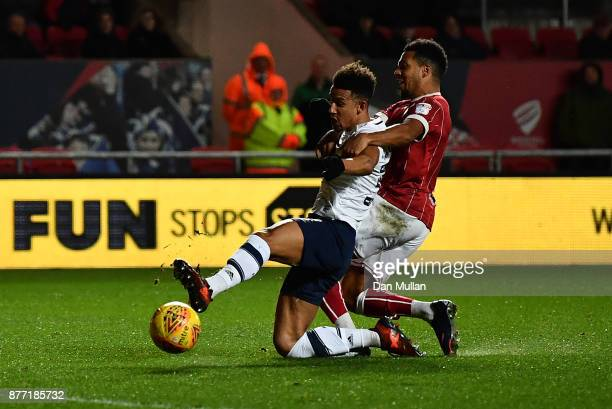 Callum Robinson of Preston North End scores his side's second goal during the Sky Bet Championship match between Bristol City and Preston North End...