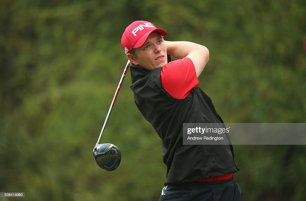 <a gi-track='captionPersonalityLinkClicked' href=/galleries/search?phrase=Callum+Shinkwin&family=editorial&specificpeople=8019517 ng-click='$event.stopPropagation()'>Callum Shinkwin</a> of England hits his tee-shot on the 11th hole during the first round of the Trophee Hassan II at Royal Golf Dar Es Salam on May 5, 2016 in Rabat, Morocco.