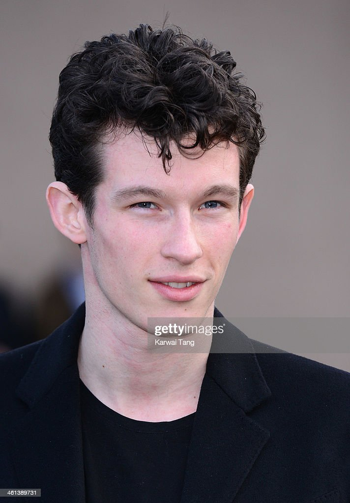 Callum Turner attends the Burberry Prorsum show during The London Collections: Men Autumn/Winter 2014 held at Kensington Gardens on January 8, 2014 in London, England.