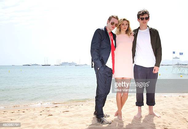 Callum Turner Caleb Landry Jones and Tamsin Egerton attend the 'Queen Country' photocall at the 67th Annual Cannes Film Festival on May 21 2014 in...