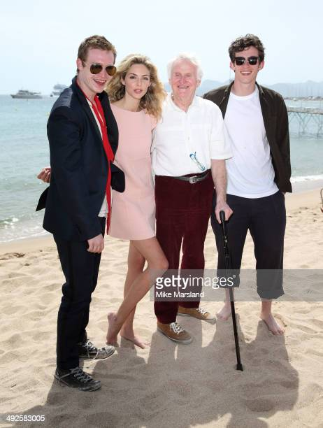 Callum Turner Caleb Landry Jones John Boorman and Tamsin Egerton attend the 'Queen Country' photocall at the 67th Annual Cannes Film Festival on May...