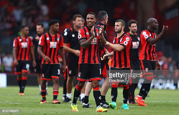 Callum Wilson of AFC Bournemouth claps the fans after the game during the Premier League match between AFC Bournemouth and Everton at the Vitality...