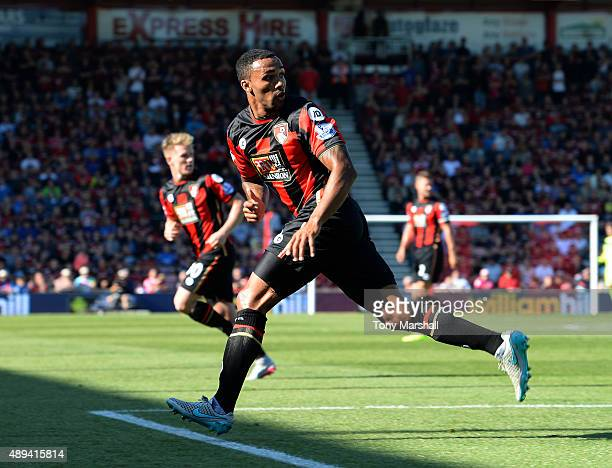 Callum Wilson of AFC Bournemouth during the Barclays Premier League match between AFC Bournemouth and Sunderland at the Vitality Stadium on September...