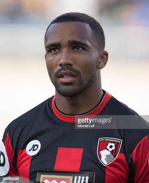 Callum Wilson of AFC Bournemouth stands for the anthem prior to the friendly match against the Philadelphia Union on July 14 2015 at the PPL Park in...