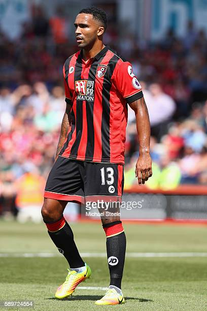 Callum Wilson of Bournemouth during the Premier League match between AFC Bournemouth and Manchester United at the Vitality Stadium on August 14 2016...