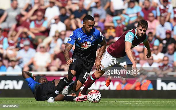 Callum Wilson of Bournemouth in action during the Barclays Premier League match between West Ham United and AFC Bournemouth at the Boleyn Ground on...