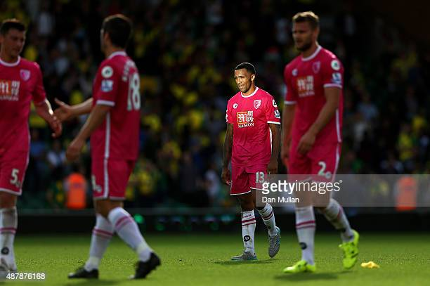 Callum Wilson of Bournemouth looks dejected after the Barclays Premier League match between Norwich City and AFC Bournemouth at Carrow Road on...