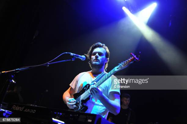 Callum Wiseman of Prides performs on stage at the O2 Shepherd's Bush Empire on May 4 2017 in London England
