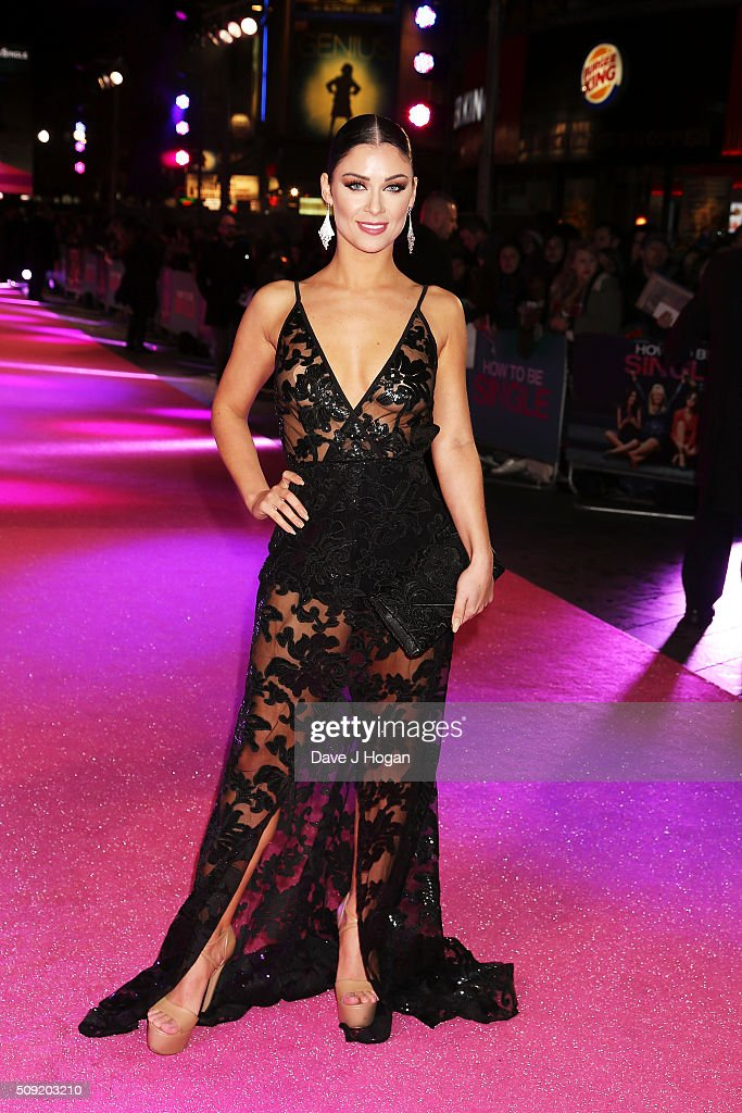 Cally Jane Beech attends the UK Premiere of 'How To Be Single' at Vue West End on February 9, 2016 in London, England.