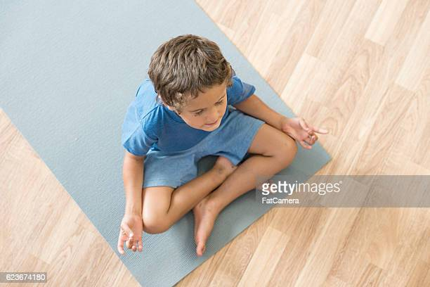 Calm Child Meditating