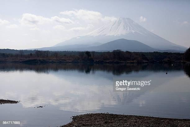 Calm lake against Mt Fuji, Japan