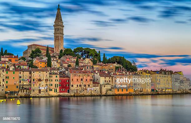 A Calm Morning In Old Town Of Rovinj, Croatia