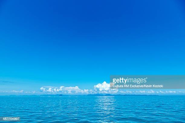 Calm seascape with clouds on horizon, Phi Phi Don, Thailand