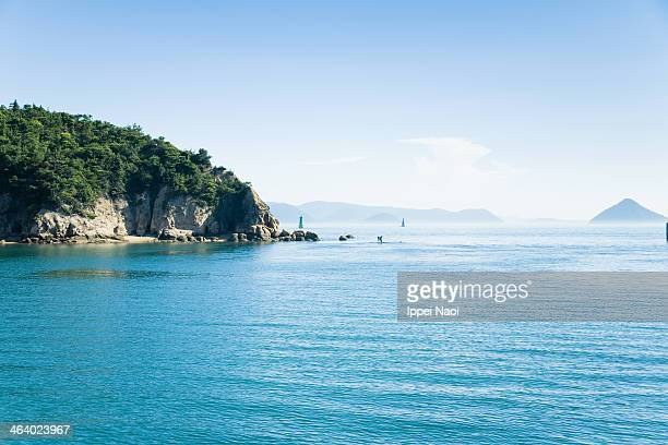Calm water with islands, Seto Inland Sea