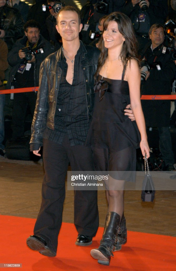 Calogero and guest during 7th Annual NRJ Music Awards - Arrivals at Palais des Festivals in Cannes, France.