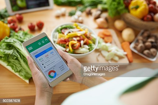 Calorie counter : Stock Photo