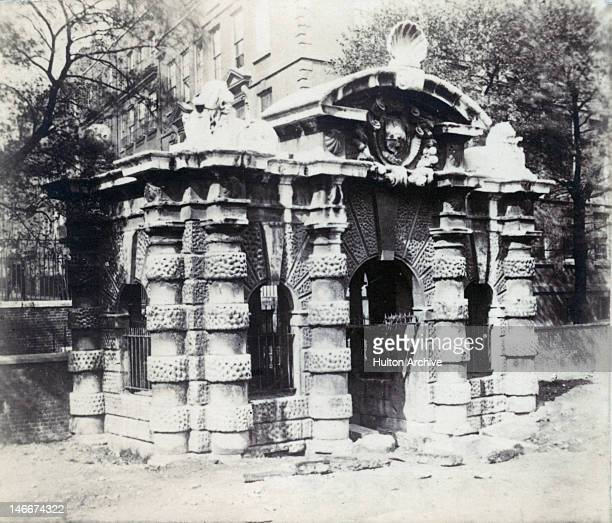 A calotype image of the York Water Gate off the Strand London circa 1850 The Italianate structure was built around 1626 as the gateway to York House...