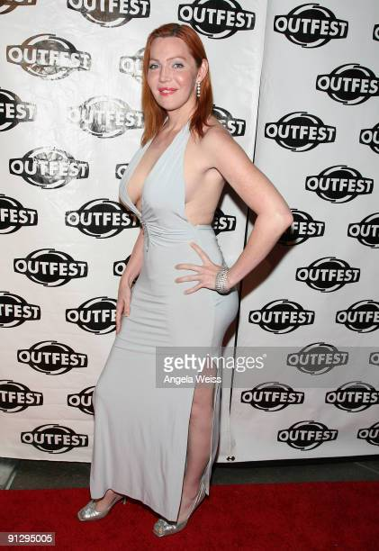 Calpernia Adams arrives at Outfest's 2009 Legacy Awards at the DGA Theatre on September 30 2009 in West Hollywood California