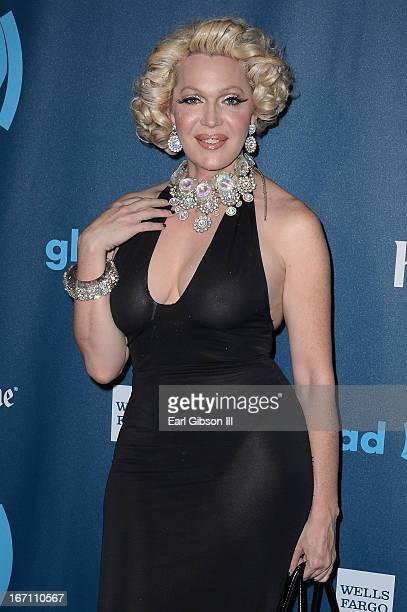Calpernia Addams arrives at the 24th Annual GLAAD Media Awards at JW Marriott Los Angeles at LA LIVE on April 20 2013 in Los Angeles California